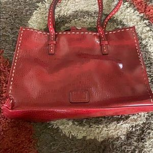 totes snake skin red leather purse